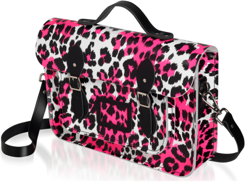 Punk-A-Rama White with Pink+Black Leopard